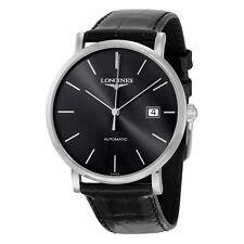 Longines Elegant Automatic Black Dial Mens Watch L49104722