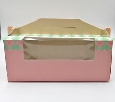 Party Paper Cupcake ToGo box Carries Containers 12 Boxes (3 Holder . Pink)