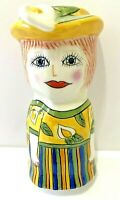 "Susan Paley ""Lily"" Mini Bud Vase Ganz Magnetic Hand Painted Ceramic Bella Casa"
