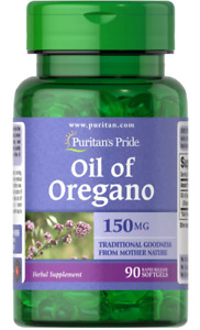 Puritan's Pride Oil of Oregano 150 mg Antioxidant Intestinal Health 90 Softgels