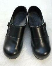 Sanita Womens Clogs Shoes Size 42 EU 10.5-11 US Black Leather Slip Resistant