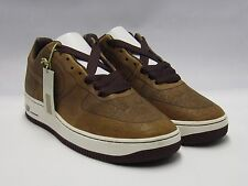 NIKE AIR FORCE 1 MARK SMITH LASER PACK MED BROWN  SIZE 9 DS NEW LEATHER
