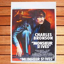 CHARLES  BRONSON AFFICHE BELGE ORIGINALE ROULÉE 35X55 CM MONSIEUR SAINT IVES