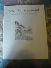 SMALL FARMER'S JOURNAL SPRING 1982 VOL 6 #2 HOGS HORSES GOATS LIVESTOCK STEERS