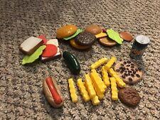 Pretend Play Fake Kitchen Toy Food Lot HamBurger Hot Dog French Fry Sandwich 1