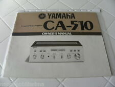 Yamaha CA-510 Owner's Manual Operating Instructions Instructions New