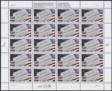 POW & MIA Never Forgotten stamps- full sheet 1994 USA 32c