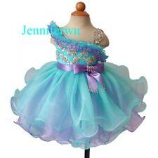 Infant/toddler/kids/baby/children Girl's Glitz Pageant Dress 1-6T G179-2