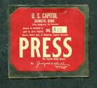 A press credential for the US Capitol , 87th Congress
