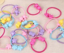 10pcs Girls Kids Hair Band Ponytail Holder Elastic Ties Choose Designs Party New