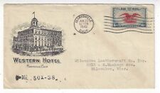 1940 Marysville CA Advertising, Western Hotel Building, Airmail #C23