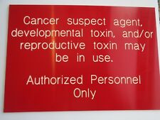 New listing Cancer Suspect Agent Sign Authorized Personnel Only Safety Sign Kid Room