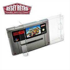 10 x Super Nintendo (SNES) Schutzhüllen 0,3 mm für Modul Hülle Protectors Box