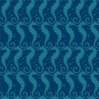 Sea Glass Blank Quilting 9555-77 Seahorses Cotton Quilt Fabric BTHY