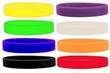 Silicone Wristbands Rubber Plain Reusable For Events Charity Fashion Bands-Adult