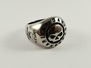 Stainless Steel Skull biker ring Harley Outlaw bikie 1%er club