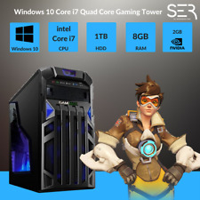 Windows 10 Core i7 Quad Core Gaming Tower PC -8GB DDR3 - 1000GB HDD-HDMI