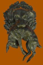 Hound Dog With Rabbit 100% Solid Bronze Sculpture Statue Figurine art Decor Sal