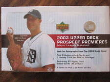 Factory Sealed Hobby Box - 2003 Upper Deck Prospect Premieres Baseball Cards