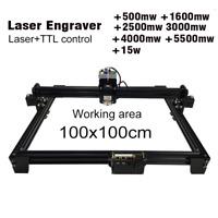 2500mw - 15w Laser Engraving Cutting Machine CNC Router TTL PMW Control 1*1m DHL