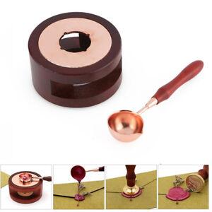 Vintage Wax Seal Stamp Warm Furnace Stove Pot Melting Spoon Kit Stamp Tool