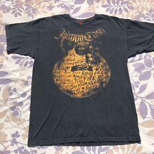Johnny Cash T-Shirt Guitar Lyrics Graphic Front 2007 Large