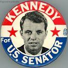 1964 RFK Robert Kennedy For U.S. Senator NY 2 Star Campaign Pin Pinback Button