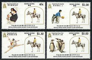 Hong Kong 435-438, MNH. Jockey Club Centenary. Horse, 1984