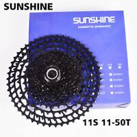 Bike Cassette SUNSHINE 11 Speed 11-50T Wide Ratio Freewheel Mountain MTB Bicycle