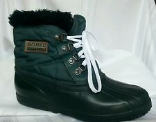 SORREL women's winter snow boots size 8.green,