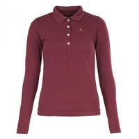 Horze Carolena Technical Pique Women's Exercise Shirt Polo Button Up Collar