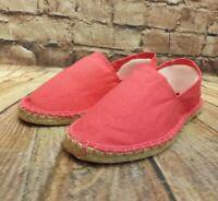 Womens Pink Textile Slip On Flat Espadrilles Shoe Sizes UK 3 - 8