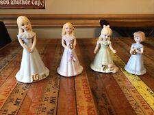 Lot 4 Growing Up Birthday Girls Enesco Porcelain Figurine