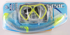 SEAC Tauchen Schnorchel Set Fusion, Farbe gelb, Regular Fit