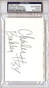 Charles Barkley Autographed Signed In College 3x5 Index Card PSA/DNA 83342237
