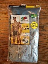 "Fruit Of The Loom Men's Gray Boxer Briefs Trunks Sz S  28-30"" - 4 Prs"