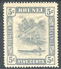 Brunei 1924 grey 5c mint SG67