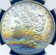1896 $1 Morgan ((Beautiful RAINBOW Toning)) NGC MS-63* STAR (DR)