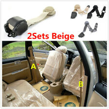 3 Point Lap Beige Seat Belt W/Quick Release Camlock For Car Interior Accessories