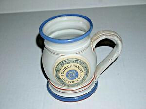 Deneen Pottery Mug Four Chimneys Nantucket Island Grey & Blue main colors