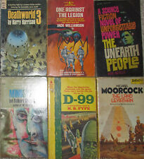 Vintage Science Fiction PB Lot of 6 Moorcock Harrison Sheckley Harrison