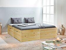 *Lausanne / 180x200 Bett m. Funktion Jugendbett Ehebett Kiefer Massiv lackiert