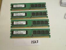 Elpida EBE10UE8ACWA-8G-E 4x1Gb=4Gb PC2-6400 800Mhz DDR2 Desktop Memory RAM (1583