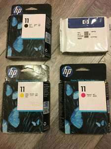 GENUINE HP 11 PRINTHEADS C4810A C4811A C4812A & C4813A DATE EXPIRED VAT INCLUDED