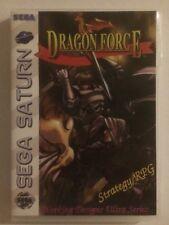 Sega Saturn Dragon Force RPG rare Red Dragon Cd Retro USA