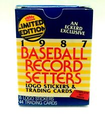 1987 FLEER BASEBALL RECORD SETTERS Stickers & Cards Boxed Set / Limited Edition