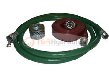 """2"""" Green FCAM x MP Water Suction Hose Kit w/50' Red Discharge"""