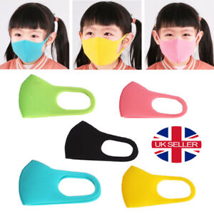 Children Kids Face Mask Mouth Protection Cover Washable Reusable Unisex 1-5pc UK