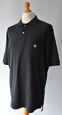 Homme noir CHAPS by Ralph Lauren Polo Shirt Taille XL.