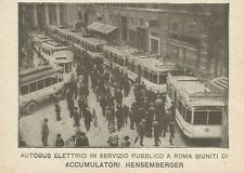 W0729 Autobus elettrici - Pubblicità 1925 - Advertising